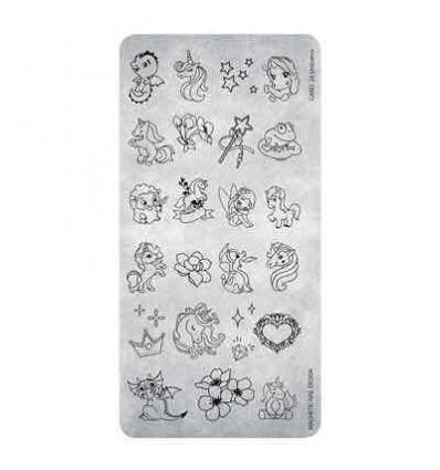 Stamping plate 25 Unicorns