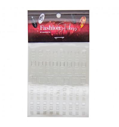 Fashion Sticker Square Silver